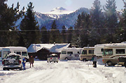 Winter Standard RV Partial Hook-up site Mammoth Lakes, CA